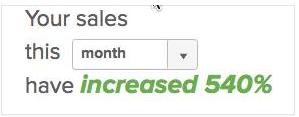 Client case study 540% sales growth